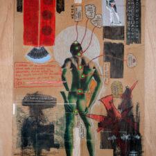 Seven Chakras 2017, Mixed-media on paper, 89 x 59cm.