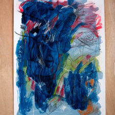 Temper tantrum in the cerebral cortex, No. 1 2017, ex, No. 2,  2017, Mixed-media on paper, 59 x 42cm. Artist Yipfung