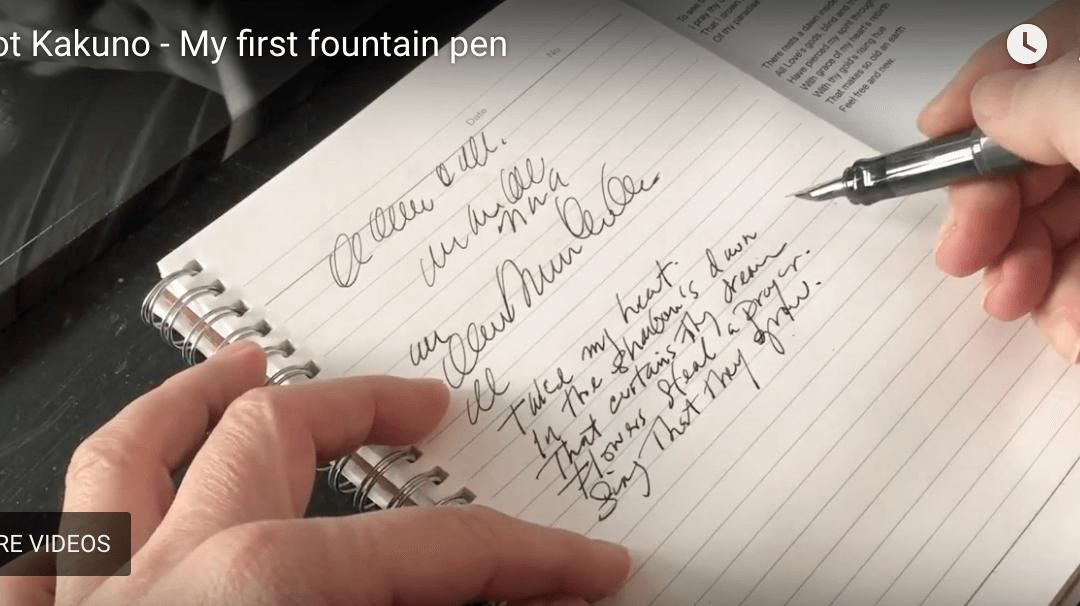 The PILOT Kaküno – my first fountain pen