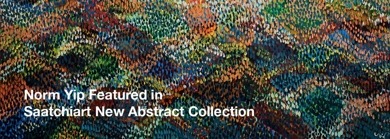 Norm Yip Featured in New Abstracts Collection by Saatchi Art