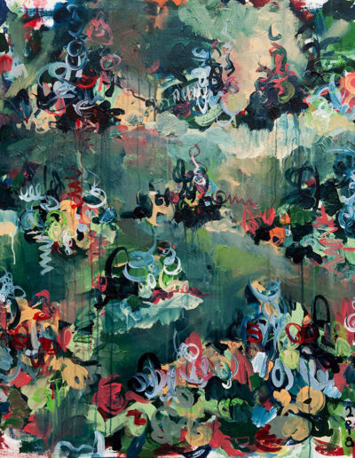 Abstract painting by Norm Yip