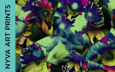 Art prints using flowers and abstract body parts