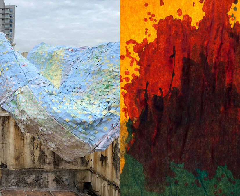 Creation-Destruction-Art on Two Planes of Existence. Artists Yip Fung and Bowie Lee.